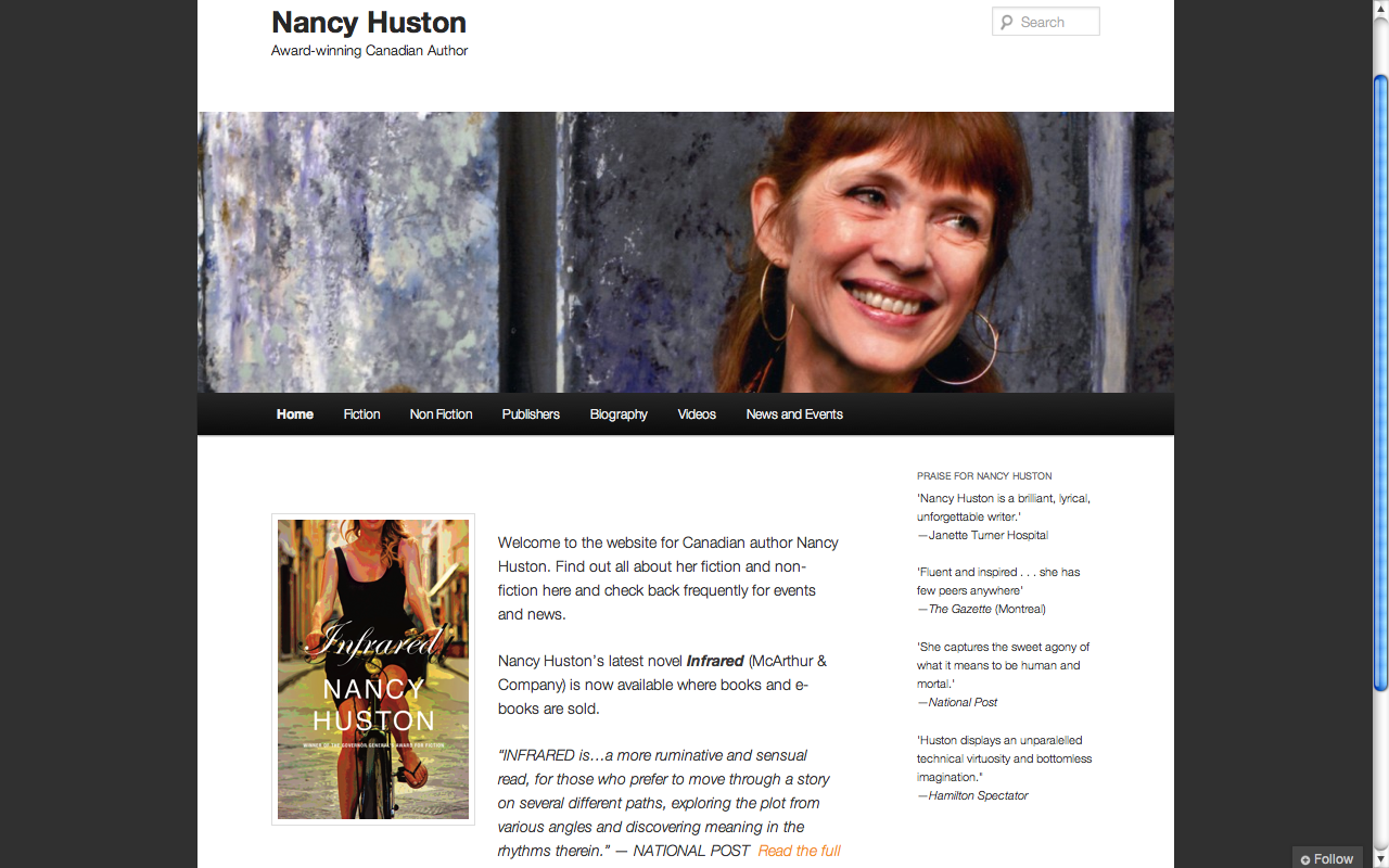 Nancy Huston Author Website